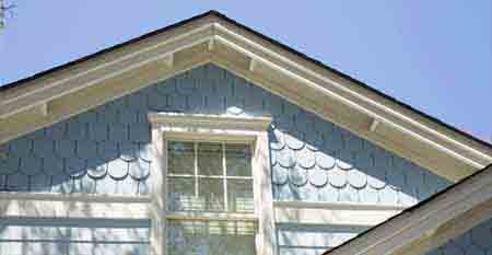 Hardieshingle Siding In Half Round Notched Panel