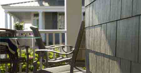 Hardieshingle Siding In Straight Edge Panel On Porch