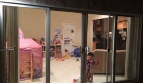 1 Sliding Door with Two Side Panels 290x168