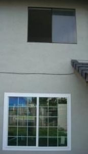 Black Sliding Window at the Top and White Sliding Window at the Bottom