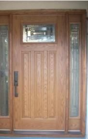Two Side Panels Door with Glass Design