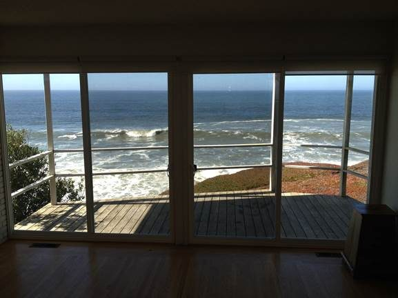 Two Sliding Doors Facing the Sea