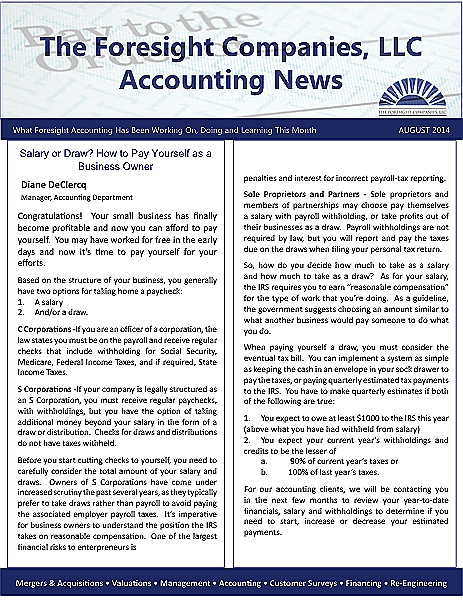 Funeral And Cemetery Consultants Blog Accounting Newsletter August 2014