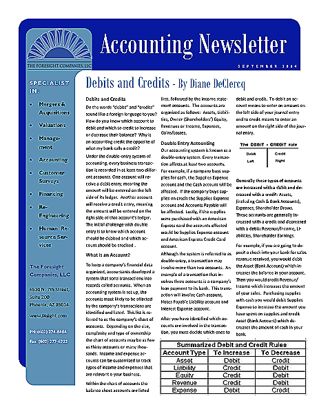 Funeral And Cemetery Consultants Dan Isard Accounting Newsletter September 2014
