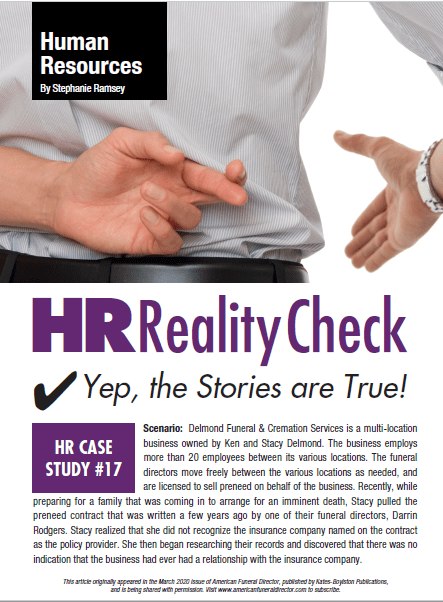funeral and cemetery consultants stephanie ramsey hr reality check 17