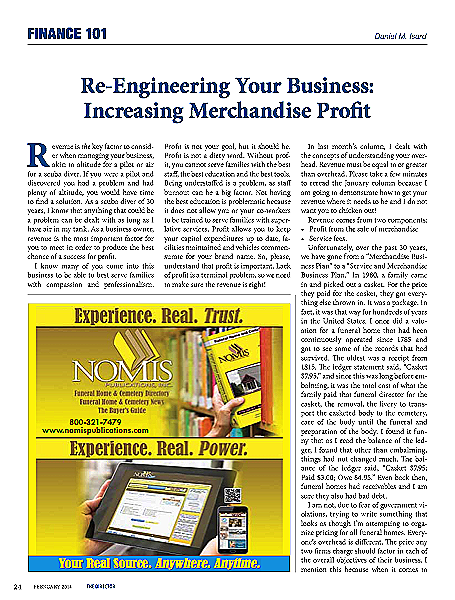 Re Engineering Your Business Increasing Your Merchandising Profit Finance 101 The Director February 2014