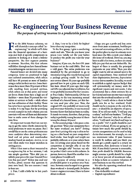 Re Engineering Your Business Revenue Finance 101 Thedirector January