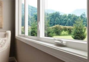 close up of milgard sliding window 300x211