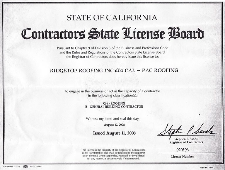 cal-pac-roofing-business-permit