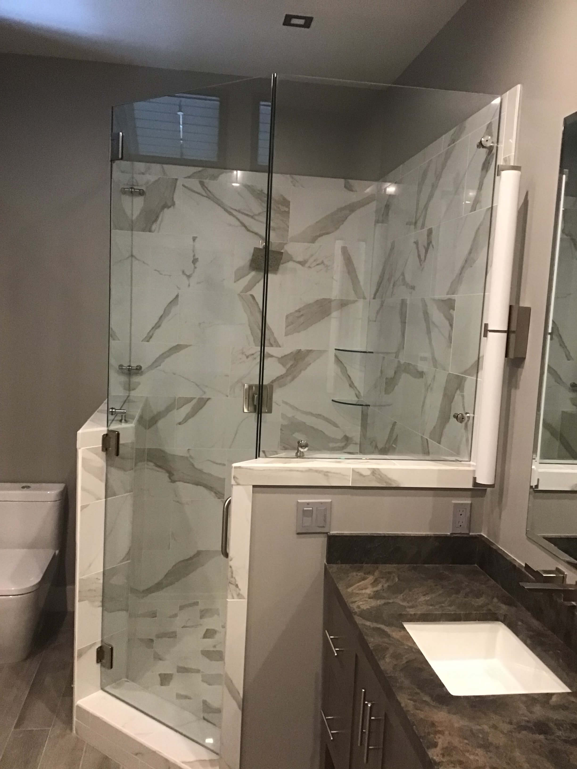 shower and mirrors 16