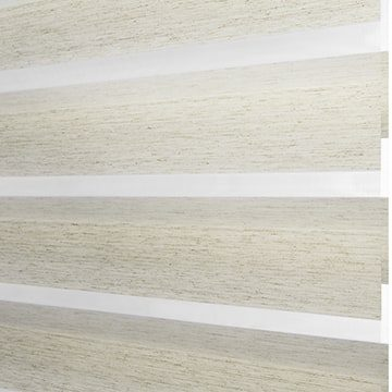 Designer Banded Shades Fabric: Dobby   Color: Coconut Milk