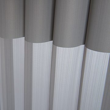 Luminette Fabric: Stria   Color: Silver Shine